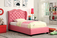 Furniture of America Monroe Bed Pink