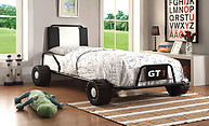Furniture of America Power Racer Twin Bed Black