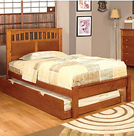 Furniture of America Carus Bed Oak