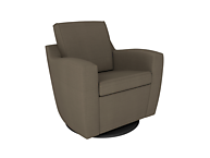 Dutailier D03191-15-5192 Upholstered Mocha Swivel Glider- Pebble Taupe Self-Welted Seat & Back Cushion