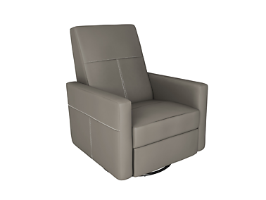 Dutailier D23461-55-5501 Swivel Minho Upholstered Glider-Recline, Swivel with Built-in Footrest