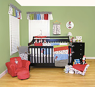 Trend Lab Dr. Seuss Cat in the Hat 3PC Crib Bedding Set