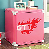 Furniture of America Power Racer Night Stand Pink