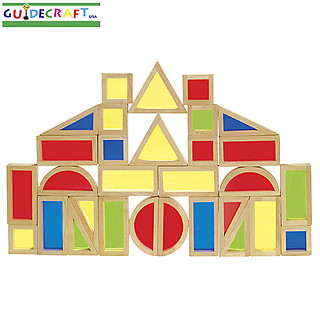 Guidecraft Rainbow Blocks 30 Piece Set