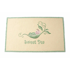 Little Acorn Sweet Pea Rug