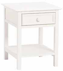 Bolton Furniture Wakefield 1 Drawer Nightstand White