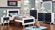 Furniture of America Alivia Collection 4-Piece Set Blue & White