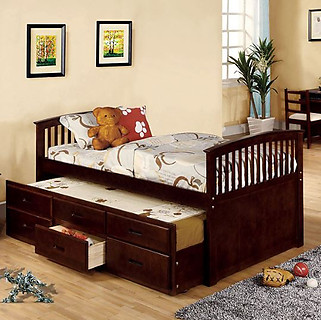 Furniture of America Bella Bed Dark Walnut