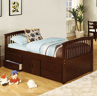 Furniture of America Caballero Bed Dark Walnut