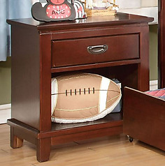 Furniture of America Colin Nightstand Cherry
