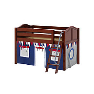 Maxtrix Easy Rider 44 Low Loft Bed with Angle Ladder and Curtain