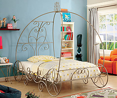 Furniture of America Enchant Bed Champagne
