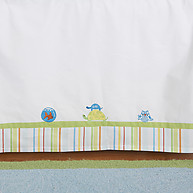 Little Acorn Funny Friends Embroidered Bedskirt