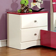 Furniture of America Kimmel Nightstand Pink & White