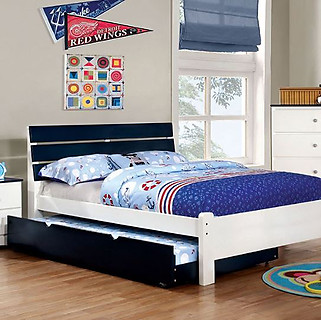 Furniture of America Kimmel Bed Blue & White