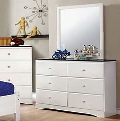 Furniture of America Kimmel Dresser Blue & White