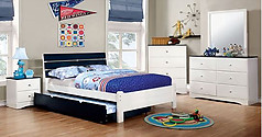 Furniture of America Kimmel Collection 4-Piece Set Blue & White