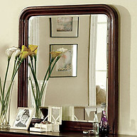 Furniture of America Louis Philippe II Mirror Cherry