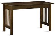 Atlantic Furniture Mission Desk with Drawer Antique Walnut