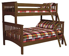 Bolton Furniture Mission Twin over Full Bunk Bed Cherry