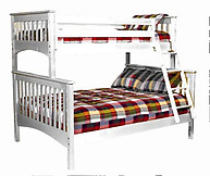 Bolton Furniture Mission Twin over Full Bunk Bed White