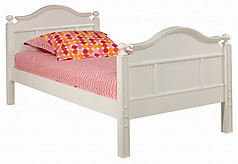 Bolton Furniture Emma Twin with Low Head Board, White