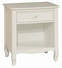Bolton Furniture Emma 1 Drawer Nightstand White