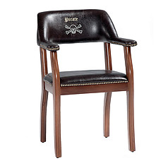 Cilek Pirate Brown Leatherette Chair