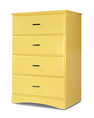 Furniture of America Prismo Chest Yellow