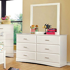 Furniture of America Prismo Dresser White