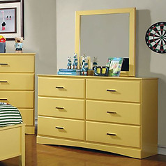 Furniture of America Prismo Dresser Yellow