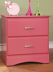 Furniture of America Prismo Nightstand Pink