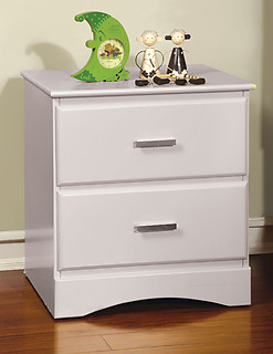 Furniture of America Prismo Nightstand White
