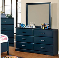 Furniture of America Prismo Dresser Blue
