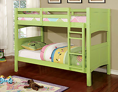 Furniture of America Prismo II Bunk Bed Green