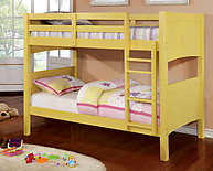 Furniture of America Prismo II Bunk Bed Yellow