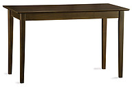Atlantic Furniture Shaker Work Table Antique Walnut