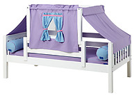 Maxtrix YO 27 Daybed with Back and Front Safety Rails and Top Tent