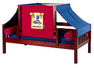 Maxtrix YO 29 Daybed with Back and Front Safety Rails and Top Tent